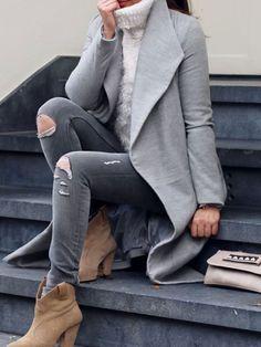 Fashion Fix: Grijze jas