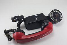 Vintage Western Electric Black Dial Space Saver Phone