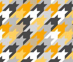 houndstoothbigorangeys fabric by ravynka on Spoonflower - custom fabric
