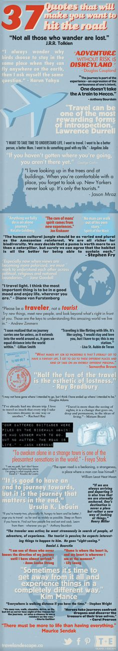 37 Inpirational Travel #Quotes