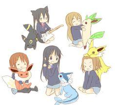 k pokemon   cross over, cute, k-on, k-on!, pokemon - inspiring picture on Favim ...