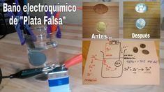 BAÑO ELECTROQUÍMICO DE PLATA FALSA. REACCIÓN ELECTROQUÍMICA EXPLICADA!!