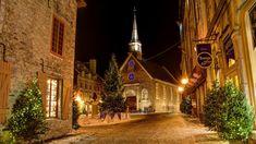 1080p Wallpaper, Home Wallpaper, Christmas Lights, Christmas Houses, Christmas Trees, Xmas, Church Architecture, Old Building, Original Wallpaper