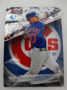 2016 Bowman's Best #51 Wilson Contreras Chicago Cubs Rookie RC Baseball Card #ChicagoCubs