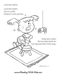 Free Nursery Rhymes coloring pages. Might make cute baby shower game/activity/quilt