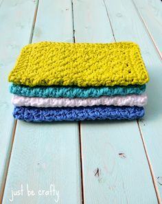 Simple Textured Crochet Dishcloth - FREE Pattern!