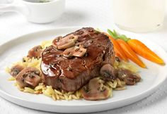 While the steaks rest, whip up this tasty topper featuring mushrooms sauteed in sweet onion and burgundy wine concentrated flavor blend.The combination isthe perfect partner for the steaks and takes just minutes to prepare. Trythem tonight,they areguaranteed toimpress the steak lovers in your family!