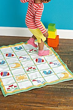Free Knitting Pattern: Just Ducky Baby Afghan