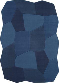modernrugs.com dimensional blues color shift modern odd shaped rug