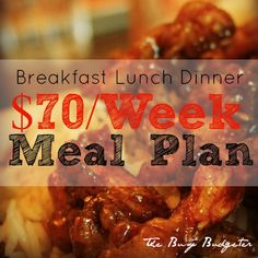 A great meal plan example to give you some inspiration for eating well on a budget :-)