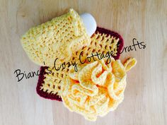 Spa Bath Set, crochet spa set: Loofah, Washcloth, Soap Saver, 100 % American cotton comes with 1 bar of soap in basket