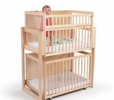 Whitney brothers space saver two level crib sweetness i for Double decker crib