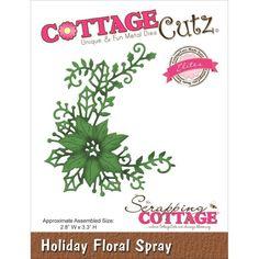 Cottagecutz Dies - Holiday Floral Spray (Elites) CCE-174