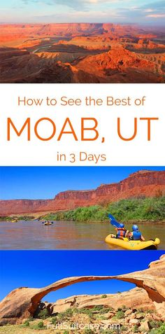 See the best of Moab, Utah (USA) with this 3 day itinerary that brings you to all the must see places in the area #moab #utahtravel