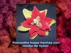Manualidades Navidad: Flor de Pascua / Nochebuena hecha con media - YouTube