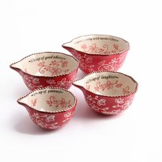 temp-tations® Floral Lace Sentiment Measuring Cups :: temp-tations® by Tara
