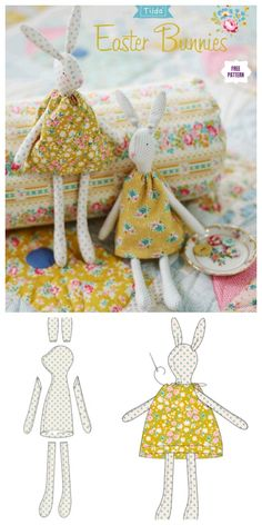 Easter İdeas 542683823847835788 - DIY Vintage Easter Bunny Free Sew Pattern & Tutorial Source by henrihermann Doll Patterns Free, Doll Sewing Patterns, Sewing Dolls, Vintage Sewing Patterns, Handmade Dolls Patterns, Clothes Patterns, Fabric Toys, Fabric Crafts, Sewing Crafts