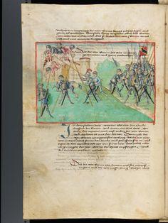 Bern, Burgerbibliothek, Mss.h.h.I.1, f. 104 – Diebold Schilling, Amtliche Berner Chronik, vol. 1