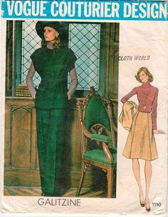 Vintage uncut Vogue 1110 designer Irene Galitzine pattern Sz. 14 #VoguePatterns #Vintage