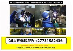 Mulani operators training: Boilermakers- are like specialised welders. They work in the heavy engineering industry. The job of a Boilermaker is to make boilers, engines and high pressure-vessels. TRADE TEST QUALIFICATION – On the completion of this qualification, a successful candidate can obtain a trade test qualification in industry. Call us / WhatsApp: +27731582436 Tell: 0118241189 / cell: 0604291718 / 0731582436 Email us : mulanioperators@yahoo.com --------------------- Co2 Welding, Welding Courses, Training School, Boiler, Training Courses, Engineering, Insurance Companies, Technology