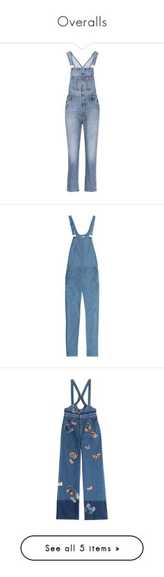 """""""Overalls"""" by quill-1 ❤ liked on Polyvore featuring jumpsuits, blue, denim, denim jumpsuits, ag adriano goldschmied, blue denim overalls, denim bib overalls, denim jump suit, denim overalls and overalls"""