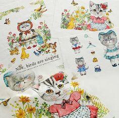 Paño de tejido de lino de algodón-arte Manual por JolinTsai en Etsy