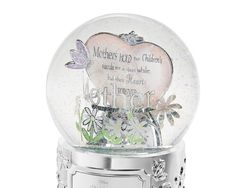 """<strong><font color=""""#8e0c3a"""">♫ Plays """"Fur Elise""""</font></strong><br/>    Tell your mother how much she means to you with your own words engraved on this special """"Mom"""" snow globe! This shimmering engraved snow globe gift for Mom      features silver flowers and a heart showcasing the word """"Mother."""" Engrave a     message to mom right from your heart on the front! <br><br>-Plays """"Fur          Elise""""<br>-Globe rotates on base<br>-The perfect personalized gift for mom on   her birthday or ..."""
