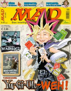 MAD #57 - Yu-Gi-Oh-Weh! American Humor, Mad Magazine, Japan, A Comics, Poster, Magazines, Characters, Journals, Cover Pages