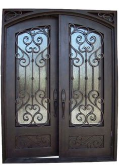"""MAIN FEATURES   Air-tight seal around door, frame, and glass panel 2"""" Thick (by 6"""" wide) door panel for greater insulation 5/8 inch hand-forged iron scrollwork Steel is 12 gauge - the thickest available 2"""" thick door, 2-3/4"""" backset for hardware"""