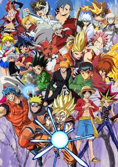 Another Anime collab picture showing off all the main protagonists of each series, even most based on Shonen Jump but some based off other anime. Anime and Shonen Jump Protagonists Otaku Anime, Anime Naruto, Manga Anime, Recent Anime, Anime Plus, Tous Les Anime, All Anime Characters, Popular Anime, Anime Crossover