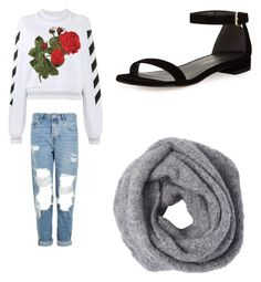 """""""Untitled #760"""" by jamiesowers14 on Polyvore featuring Off-White, Topshop and Stuart Weitzman"""