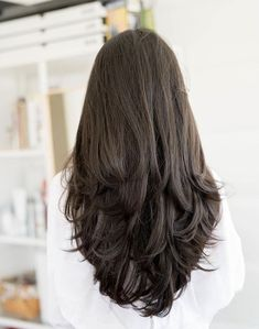 Haircuts For Long Hair With Layers, Haircuts Straight Hair, Haircut For Thick Hair, Layered Long Hair, Straight Hair With Layers, Long Hair Styles Straight, Thick Long Hair, Haircut For Medium Length Hair, Haircut Layers