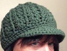 Newsboy cap http://cre8tioncrochet.com/2013/02/free-crochet-newsboy-hat-pattern/ - I added an last row of crab stitch