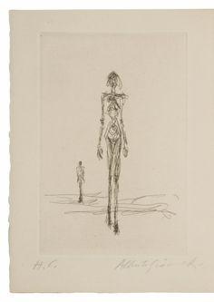 Alberto GIACOMETTI (1901-1966) Illustration pour L' EPERVIER de Jacques Dupin, 1960 Eau - forte Sold 9 000€ with Artprecium #artauction