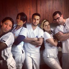 """Here's the night crew! Don't they look ready to take on the world? We love the caption, which reads: """"Nursing friendships are a different kind of love."""" #Nurses #Friends #Coworkers"""