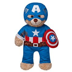 Captain America Costume 3 pc. | Build-A-Bear Workshop $16