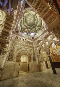 statues-and-monuments Cordoba Mosque 1 by David Wheatley Ancient Greek Architecture, Islamic Architecture, Historical Architecture, Art And Architecture, Europe Holidays, Beautiful Mosques, Grand Mosque, Photos Voyages, Moorish