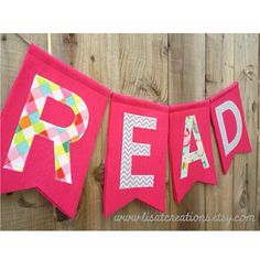 Items similar to READ felt banner // Teacher Gift // For the Reading Corner on Etsy Reading Corner Classroom, Reading Nook, Classroom Banner, Classroom Ideas, Ladybug Coloring Page, Felt Banner, Drink Sleeves, Teacher Gifts, Coloring Pages