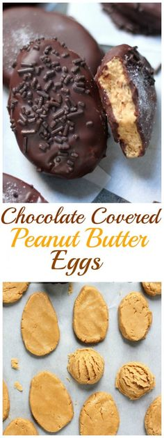 Chocolate Covered Peanut Butter Eggs - A million times better than the packaged candy! This is a fun and easy DIY candy recipe everyone will LOVE!