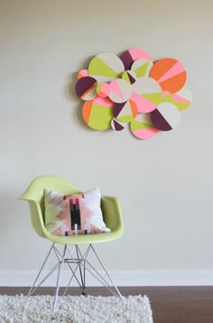 3D ​Colorblock Wall Art - Creative DIY Wall Art Ideas