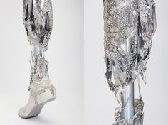 """Crystallized Leg"" designed by Sophie de Olivera of The Alternative Limbs Project. Photography by Omkaar Kotedia"