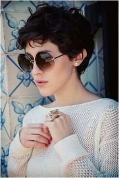 Short Haircuts Summer Boyish Pixie 2014-Short-Curly-Hai
