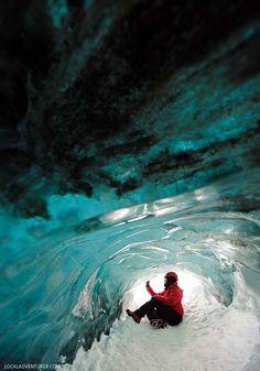 Skaftafell Ice Cave in Iceland is part of the Vatnajökull Glacier // http://localadventurer.com