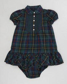 Ralph Lauren /Mixed Tartan Bib Dress