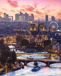 'Sunset over Paris.' by Saúl Aguilar - Paris based (@saaggo) • Instagram photos and videos
