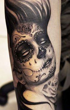 Tattoo Artist - Geza Ottlecz - muerte tattoo witte ogen