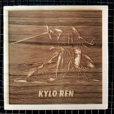 Star wars Poster in Wood.