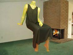 90's Goth Sheer Black Dress / Teen Witch Pagan Semi Sheer Maxi / Sleeveless Minimalist See Through Coverup / Boho Festival Dress / Tank Top