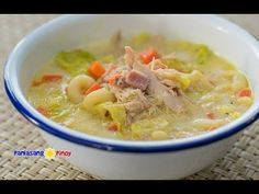This video will show you how to cook the Filipino version of chicken noodle soup. This is a special type of sopas composed of shredded chicken, chopped ham, . Chicken Macaroni Soup, Macaroni Soup Recipes, Chicken Noodle Soup, Filipino Recipes, Asian Recipes, Filipino Food, Filipino Dishes, Filipino Sopas, Asian Foods