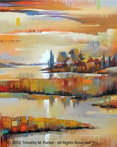 Corey Creek - Abstract Landscape Fine Art Print — Contemporary Fine Art Prints, Modern Landscape and Seascape Painting